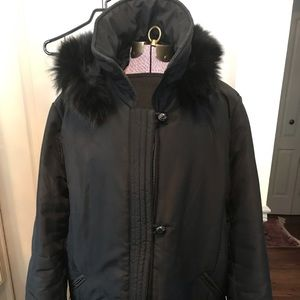 Black hooded Jacket 1-2X plus size warm but light